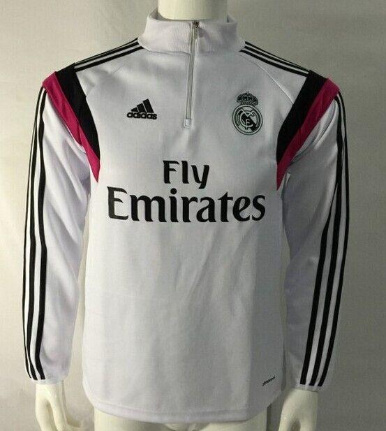 Sudadera Real Madrid con cremallera 2014/2015 -- Blance - €35.00 :