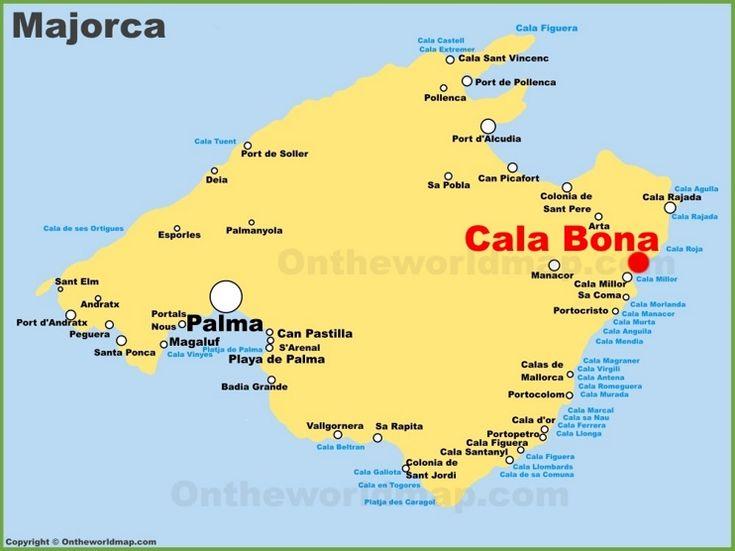 Cala Bona location on the Majorca map