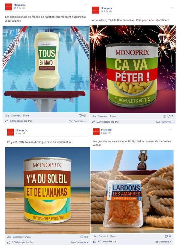Pub #Monoprix sur Facebook #humour #packaging