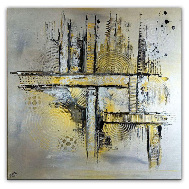 BURGSTALLER Original Gemälde Silber Gold Sep Malerei abstrakt Bild Gemälde Acryl  #abstraktekunst #abstractpainting #artwork #abstract #abstrakt #gemäldeabstrakt