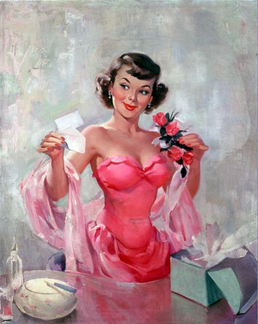 Vintage pin up girl.....such a cutie