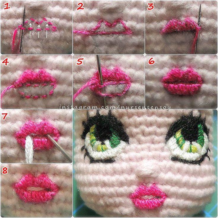 Selam tekrar☺ Yine aynı teknikle yaptığım dudak işlemesinin aşamaları.. Herkese kolay gelsin #amigurumipattern #amigurumitarif #crochet #knitting #tığişi #örgü #eniyilerikesfet #goodmorning #günaydın #goodlike #instalove #instalike #instapattern #instagood #freepattern #pattern #art #sanat #handmade #sağlıklıoyuncak #örgüoyuncak #toy #crochettoy #hoby #hobi #crochetdool #örgübebek #nursensensoylabebekoruyoruz