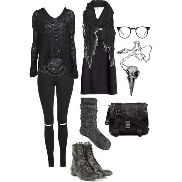 Wood witch wardrobe #2 by n-nyx on Polyvore featuring Nili Lotan, H&M, Topshop, River Island, H by Hudson, Proenza Schouler, Pamela Love, AllSaints and Spitfire