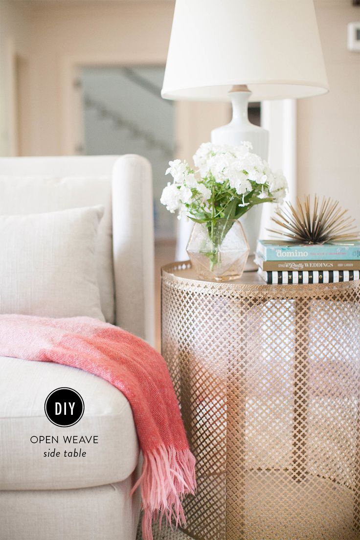 DIY Open Weave Side Table