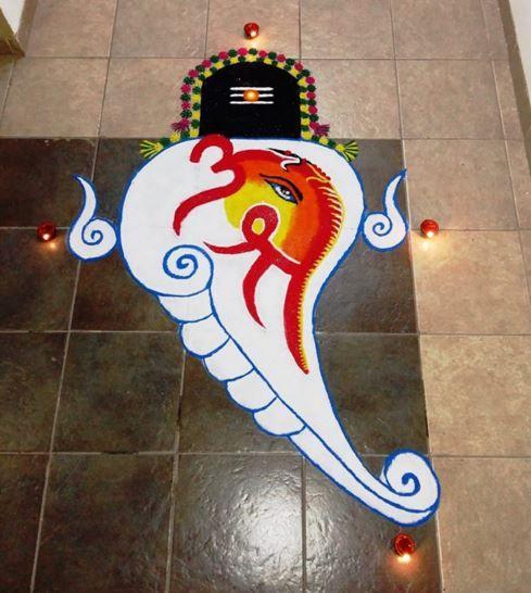 Maha Shivaratri Rangoli Designs