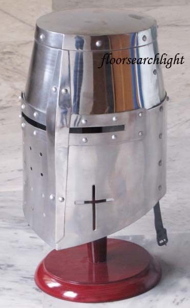 MEDIEVAL KNIGHT TEMPLAR CRUSADER ARMOR HELMET - RE-ENACTMENT ROLE PLAY COSTUME