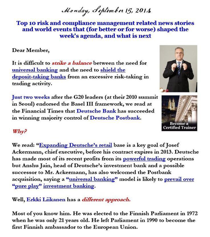 Newsletter, September 15, 2014
