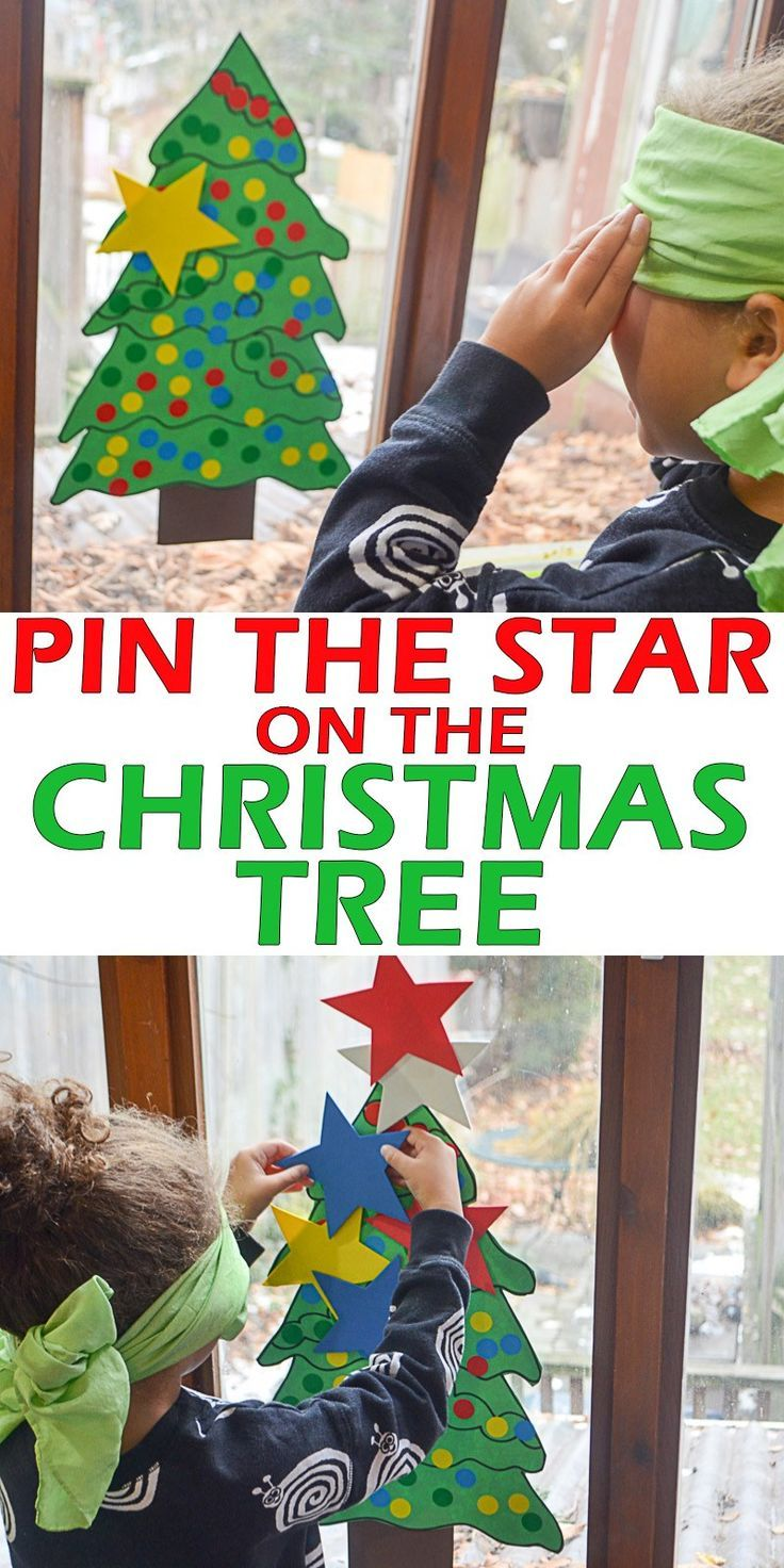 Pin the Star on the Christmas Tree – Toddler Activities