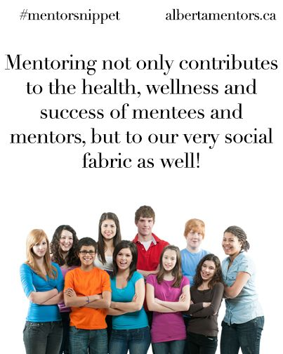 Mentoring not only contributes to the health, wellness and success of mentees and mentors, but to our very social fabric as well! Related