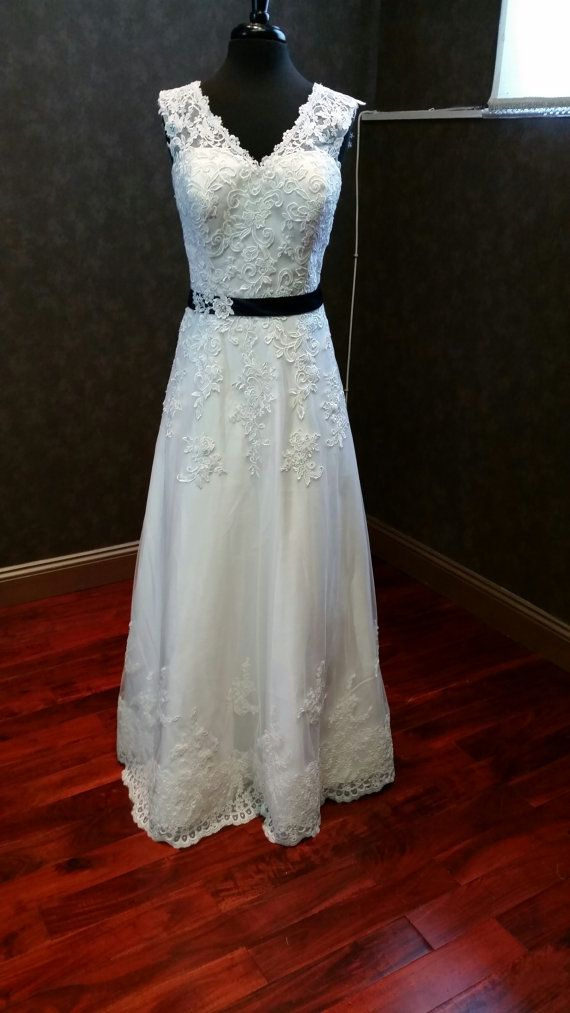Guipure Lace Wedding Dress with Straps and by WeddingDressFantasy, $2300.00