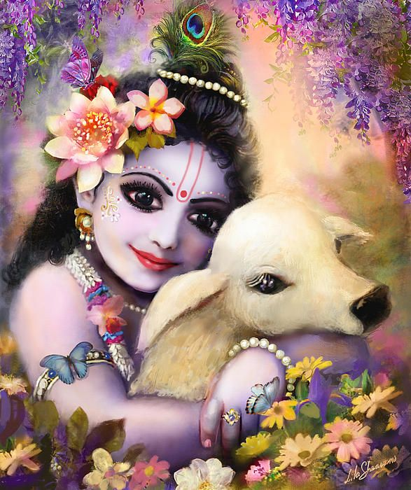 Krishna and calf