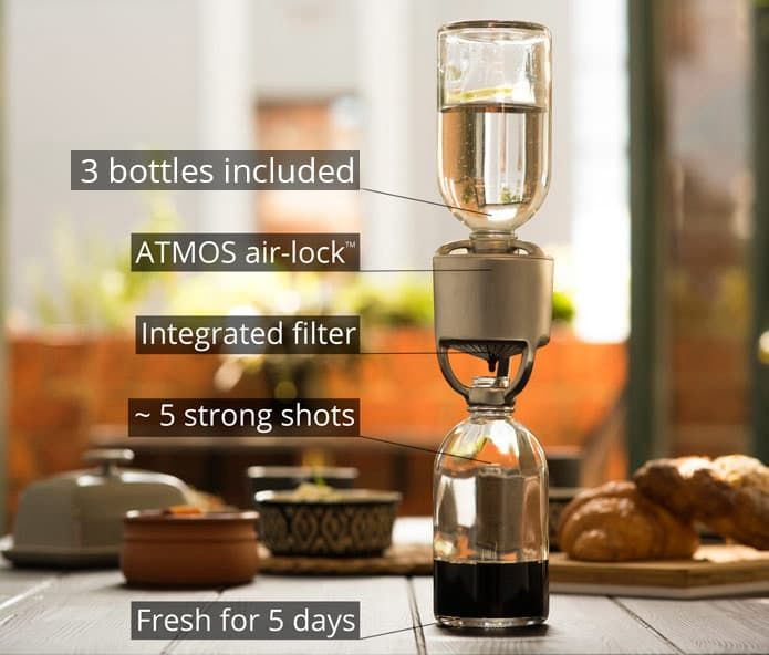 Make full flavored, barista-style cold drip coffee at home with ATMOS - Just fill, tamp and flip. | Check out 'Cold Drip Espresso Made Easy with ATMOS' on Indiegogo.