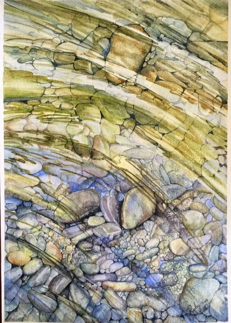 Watercolor Cobblestones