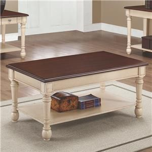 Coaster Two-Toned Transitional Coffee Table available at Foothills Family Furniture
