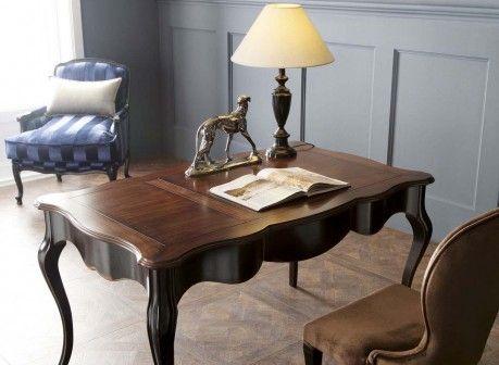 Klasyczne biurko Spillo w stylu barokowym z finezyjnie wyprofilowanym kołnierzem - Novelle