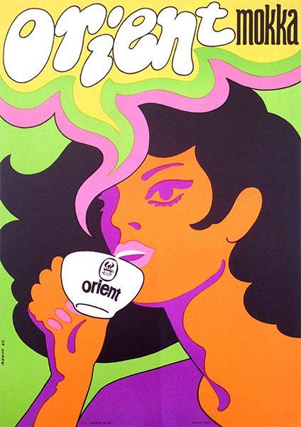 Orient Cafe Mocha /Orient mokka 1969 Artist - Bakos István