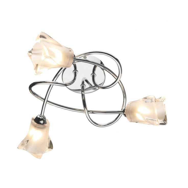 £70 Dar CIC5350 Cicero 3 Light Ceiling Light Polished Chrome