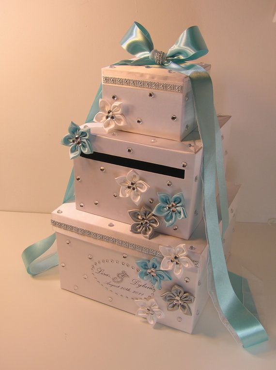 Champagne Wedding Card Box Gift Card Box Money Box Holder-Customize your color. $118.00, via Etsy.