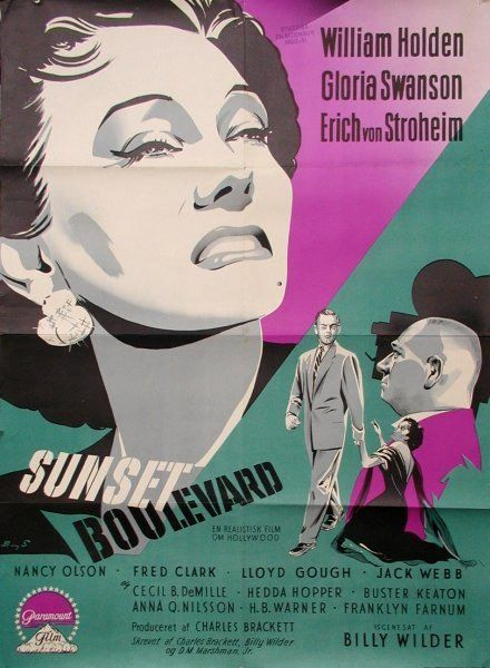 MOVIE POSTER FOR SUNSET BOULEVARD