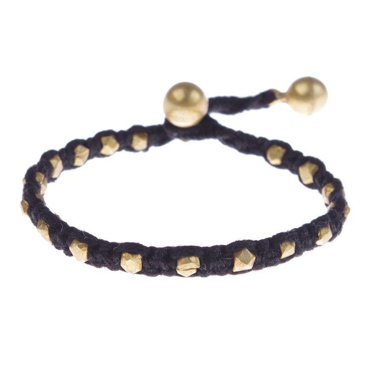 A Beautiful Story sieraden | Studio Art Styles  | Armband |  Aruna Golden bracelet | handcut beads in a beautiful setting