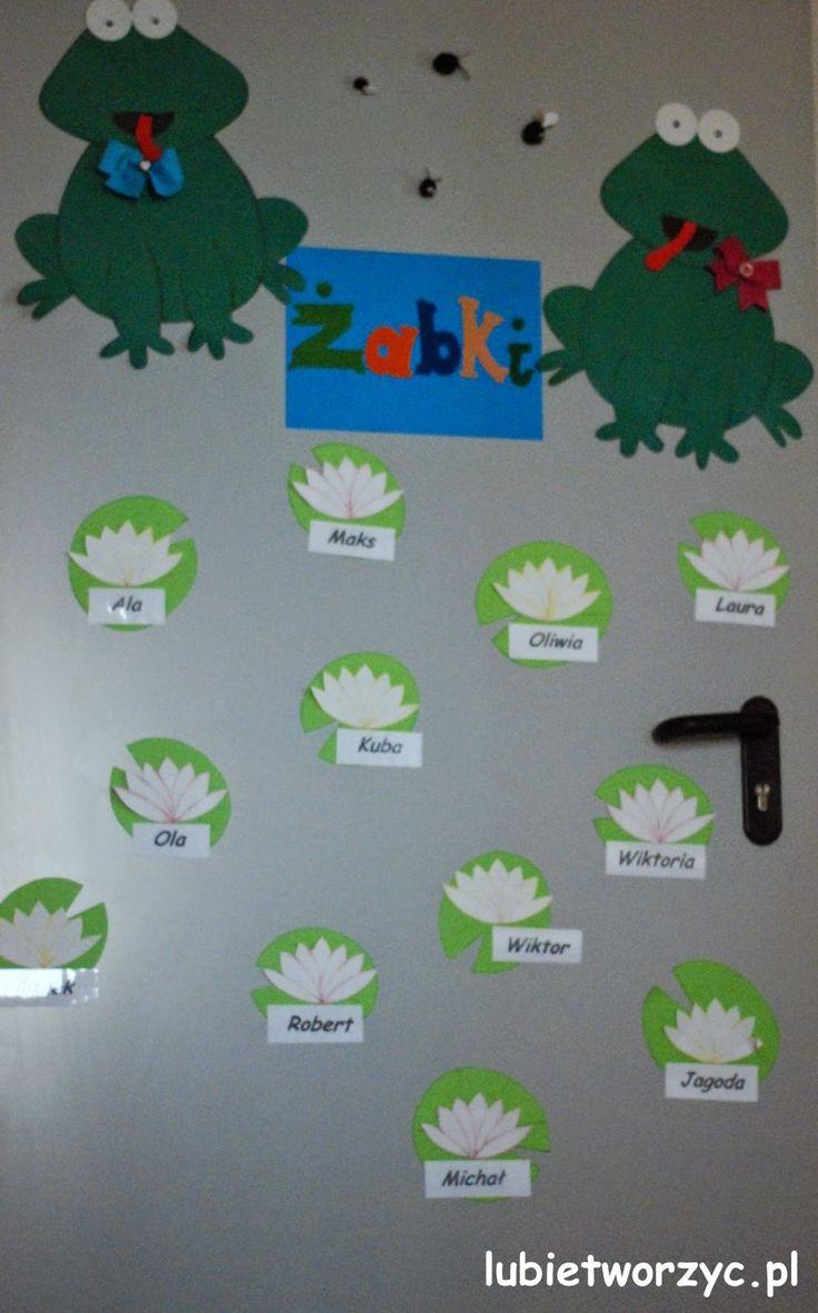 Żabki Dekoracja Drzwi Przedszkolnej Sali Dydaktycznej 1