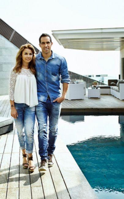 Claudio Bravo and Carla Pardo