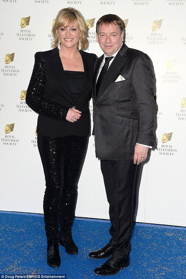 A night off from Albert Square: Laurie Brett and Adam Woodyatt arrived at the RTS Programm...
