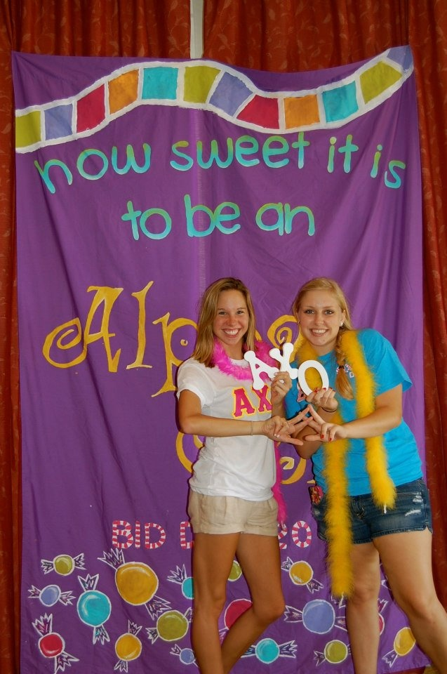 I took this photo of my little and her Alpha! Theta Sigma at the University of North Florida! @Baylie Carlson Scott