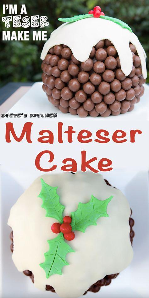 Having fun in the kitchen this Christmas with my Christmas Pudding Malteser Cake Full Video Recipe Here https://youtu.be/BqmVX3iWZLc