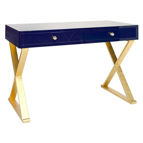 Worlds Away Jared Navy Desk