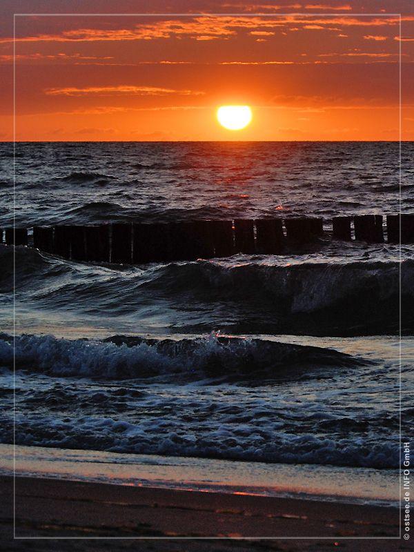 Strandidyll Ostsee Bilder Sonnenuntergang Ostsee
