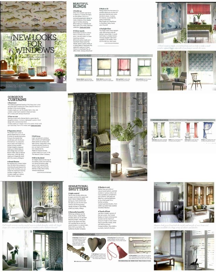 House Beautiful (July 2012)  New looks for windows: featuring Seabirds,Sail stripe and Skipper.