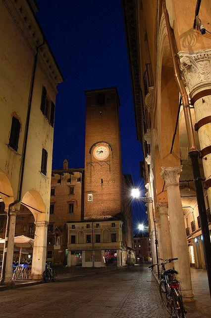 Piazza Broletto, Mantua, Lombardia Italy