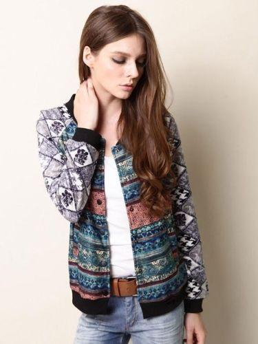 архаические национального стили цветочные Короткие куртки