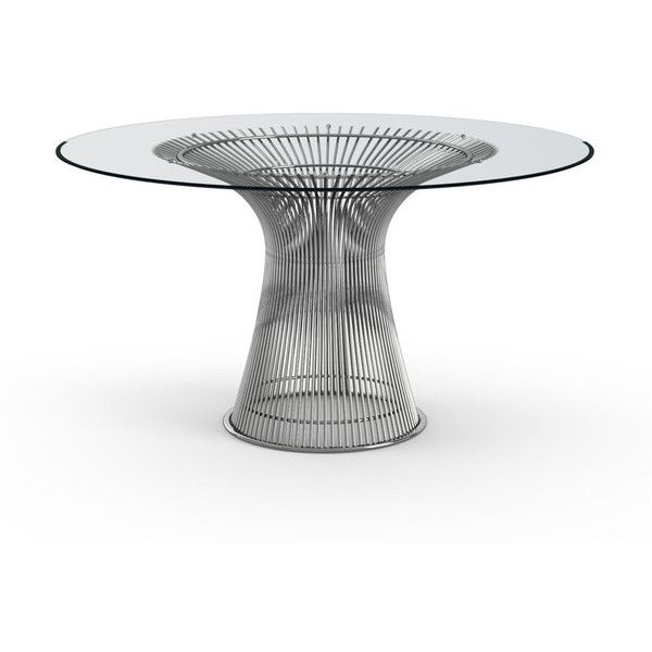 Knoll Large Round Dining Table by Warren Platner found on Polyvore