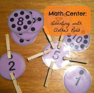 Math center freebie: counting and 1:1 correspondence