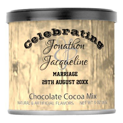 Pale Bronze Wedding Occasion Gifts Personalized Hot Chocolate Drink Mix - wedding decor marriage design diy cyo party idea