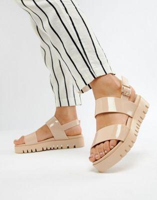 fdb737d1001 ASOS DESIGN Fadey Chunky Jelly Flat Sandals