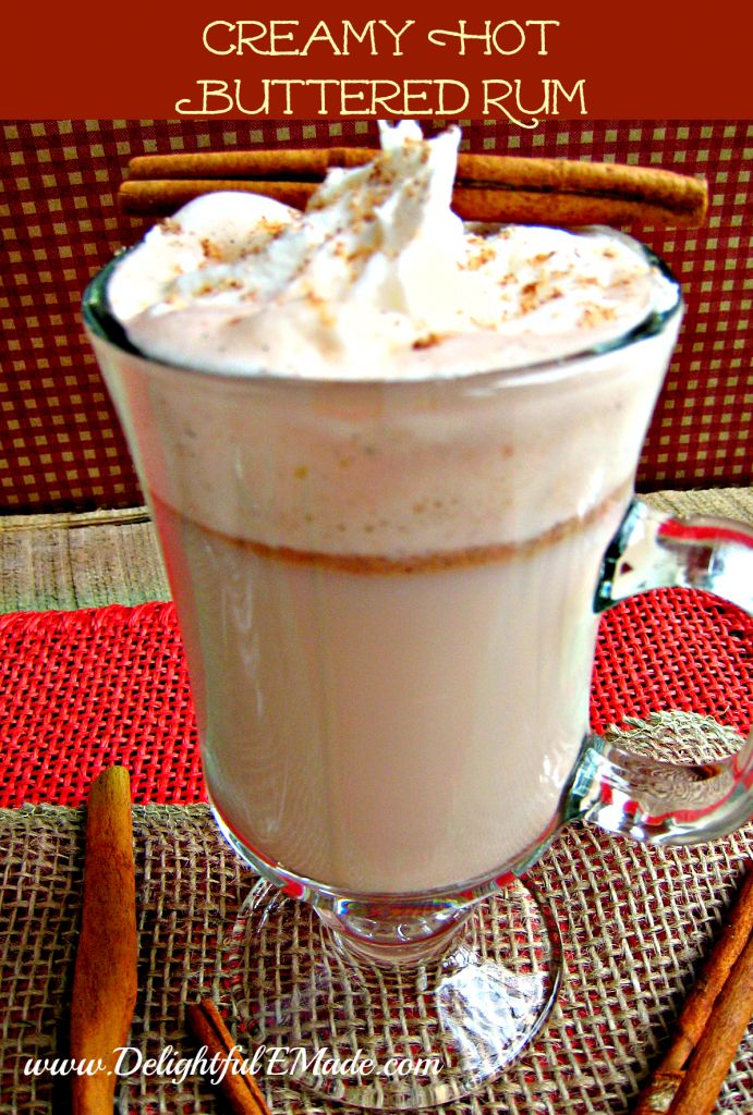Creamy Hot Buttered Rum. Had this recipe but lost it. Used to make it for tree trimming night! It is YUMMY!