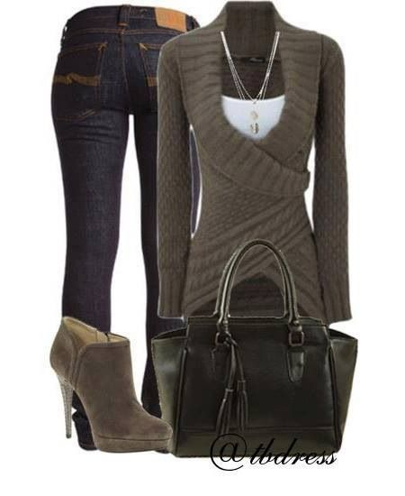 Love the sweater. Looks warm and yet cut to give a waistline.