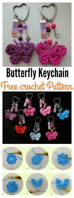 TamaraART: Direct link to free crochet butterfly keychain pattern