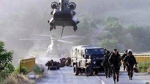 Los soldados británicos formaron parte de la fuerza de paz de la OTAN en Kosovo en 1999