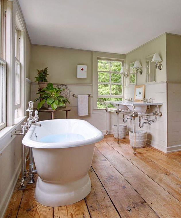 15 Ideen für die Beschichtung der Wände von Badezimmern ohne ...