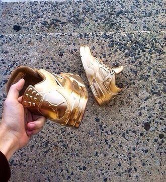 jordans belt shoes air jordan gold nike fashion shiny sneakers trainers glitter dope sportswear cool swag urban custom shoes metallic shoes jordan's gold jordan gold shoes