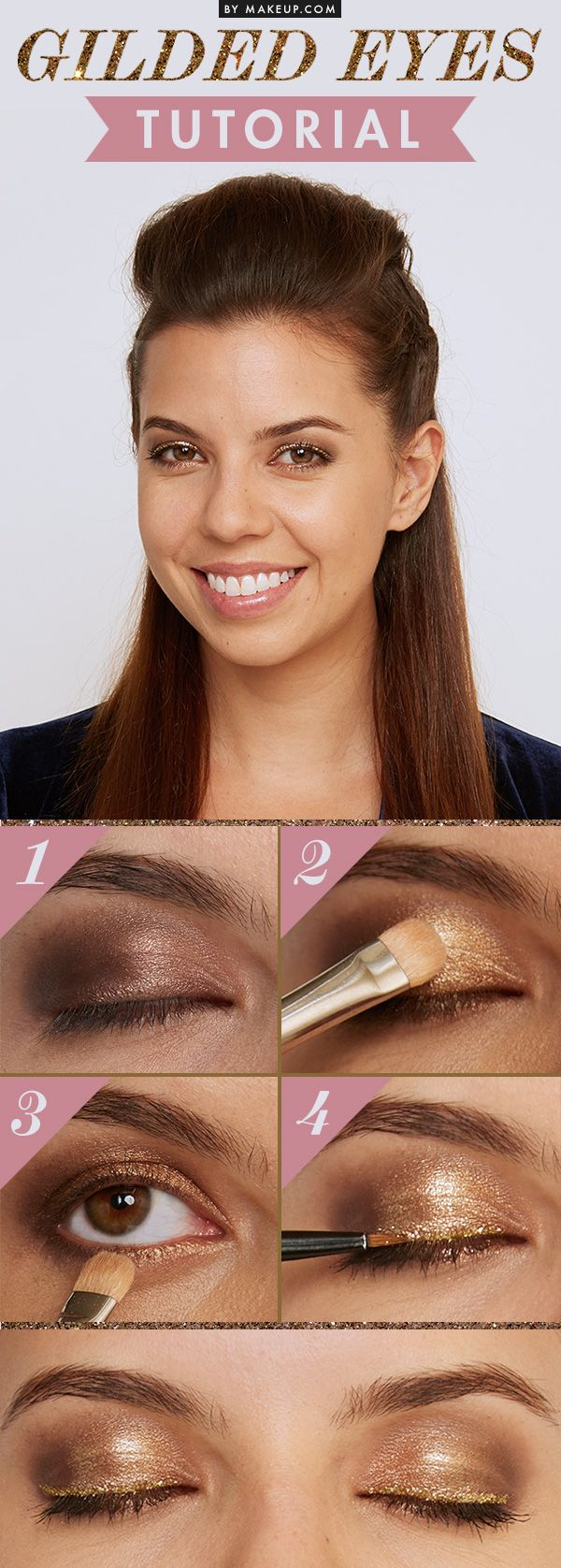 Gilded Eye Shadow Tutorial // #makeup PROMOTIONS Real Techniques brushes…