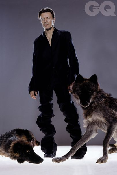 Renowned photographer Markus Klinko tells the story of how he came to photograph the legendary David Bowie with wild wolves for British GQ's October 2002 issue