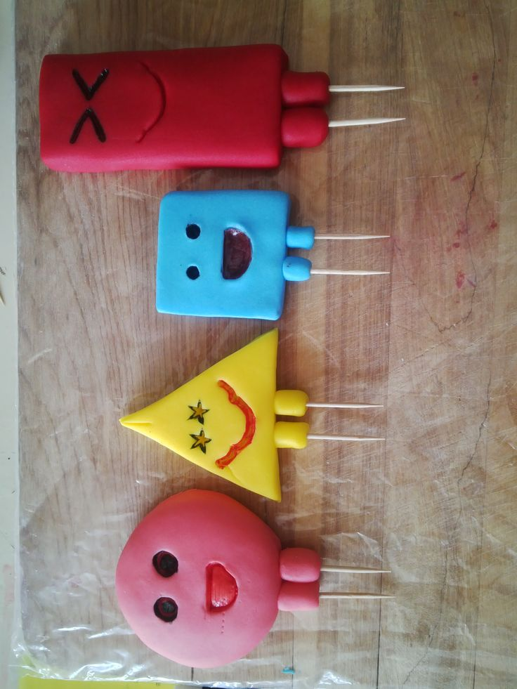 Mr Maker fondant shapes