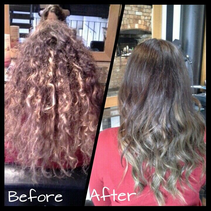 Colour & Cut...softer colours / blended #hair #curls #before&after #brunette #ombre #styledbymia
