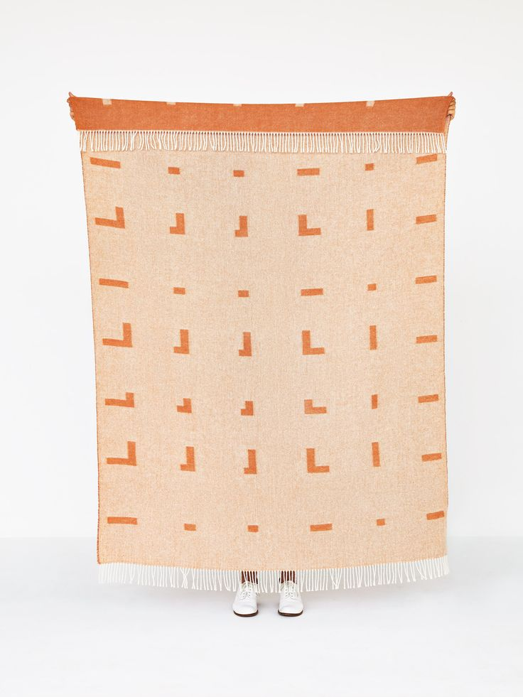 Iota blanket cognac brown