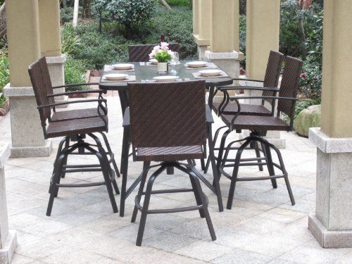 Outdoor Patio Bar Swivel Chairs Outdoor Greatroom Company Set of